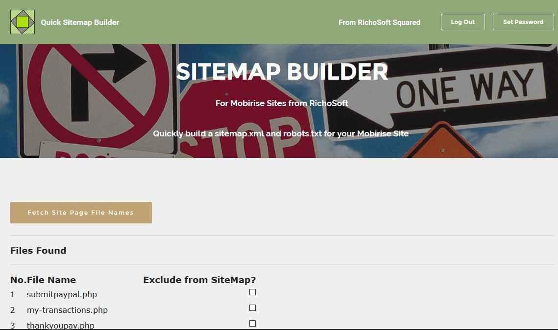 u5 quick sitemap maker std